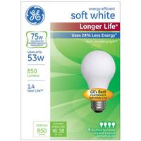 GE 4 Pack 53W Longer Life Soft White Bulbs from Blain's Farm and Fleet