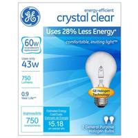 GE 2pk 43W Energy-Efficient Crystal Clear from Blain's Farm and Fleet