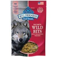 Blue Buffalo Wilderness 4 oz Trail Treats Salmon Wild Bits Dog Training Treats from Blain's Farm and Fleet