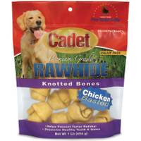 Cadet Rawhide Knotted Bones Dog Chews from Blain's Farm and Fleet