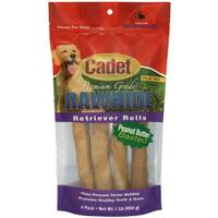 Cadet Peanut Butter Rawhide Retriever Rolls Dog Chews from Blain's Farm and Fleet