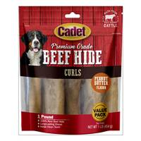 Cadet Peanut Butter Rawhide Curls Dog Chews from Blain's Farm and Fleet