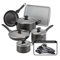 Farberware 15 Piece Dishwasher Safe Nonstick Cookware Set from Blain's Farm and Fleet