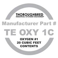 Thoroughbred Industrial Oxygen Cylinder Contents Only from Blain's Farm and Fleet