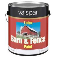 Valspar Barn & Fence Paint, Red Latex from Blain's Farm and Fleet
