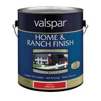 Valspar Home & Ranch Flat Finish Brilliant Red Latex from Blain's Farm and Fleet