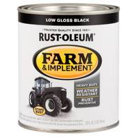 Rust-Oleum Farm & Implement Low Gloss Black Paint from Blain's Farm and Fleet