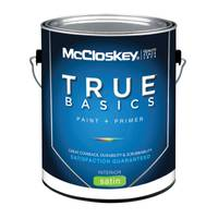 McCloskey True Basics Interior Satin White Base Paint & Primer from Blain's Farm and Fleet