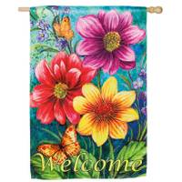 Evergreen Enterprises House Suede Summer Flowers Flag from Blain's Farm and Fleet