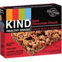 Kind Healthy Grains Dark Chocolate Chunk Granola Bars from Blain's Farm and Fleet