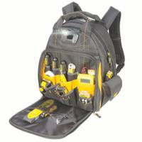 DEWALT 57 Pocket Lighted Tool Backpack from Blain's Farm and Fleet