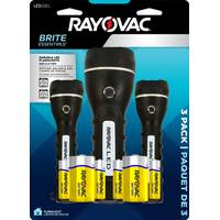 Rayovac 2D LED Rubber Multipack Flashlights with Batteries from Blain's Farm and Fleet