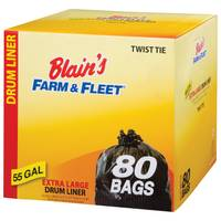 Blain's Farm & Fleet Black 55 Gallon Drum Liner from Blain's Farm and Fleet