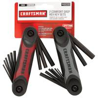Craftsman 2 Piece Dual Material Folding Hex Key Set (46001/46002) from Blain's Farm and Fleet