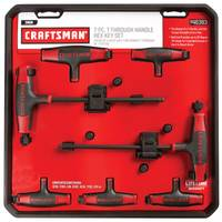 Craftsman 7 Piece T-Handle Ball End Hex Key Set SAE from Blain's Farm and Fleet