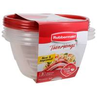 Rubbermaid Take Alongs 6.2 Cup Round Containers 3 Pack from Blain's Farm and Fleet