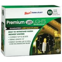 Blain's Farm & Fleet Clear 105-Light LED Icicle Light Set from Blain's Farm and Fleet