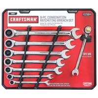 Craftsman 8 Piece Full Polish Ratcheting Wrench Set from Blain's Farm and Fleet