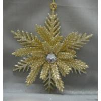 Caffco International Gold Snowflake Ornament from Blain's Farm and Fleet