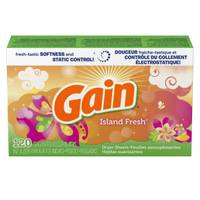 Gain Island Fresh Dryer Sheets with Freshlock Scent Booster from Blain's Farm and Fleet
