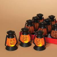Gerson International Lighted Acrylic Halloween Pumpkin Lantern Assortment from Blain's Farm and Fleet