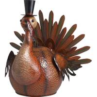 Transpac Imports Inc. Metal Harvest Turkey Figurine from Blain's Farm and Fleet