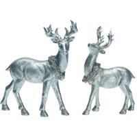 Transpac Imports Inc. Large Silver Standing Deer Assortment from Blain's Farm and Fleet