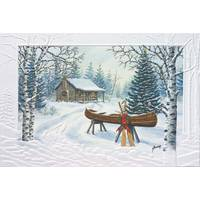 Pumpernickel Press Christmas Canoe Christmas Cards from Blain's Farm and Fleet