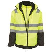 Utility Pro Men's Yellow Class 3 High Visibility Parka With Softshell Jacket from Blain's Farm and Fleet