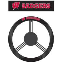 BSI Products University of Wisconsin Badgers Polysuede Steering Wheel Cover from Blain's Farm and Fleet
