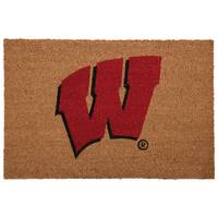 The Memory Company Wisconsin Badgers Logo Door Mat from Blain's Farm and Fleet