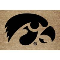 The Memory Company Iowa Hawkeyes Logo Coir Door Mat from Blain's Farm and Fleet