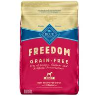 Blue Buffalo Freedom 24 lb Grain Free Beef Flavoured Adult Dry Dog Food from Blain's Farm and Fleet