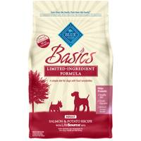 Blue Buffalo Life Protection 4 lb Basics Limited Ingredient Grain Free Diet Salmon Dog Food from Blain's Farm and Fleet