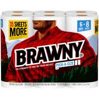 Brawny Large Roll Paper Towels - 6 Pack from Blain's Farm and Fleet