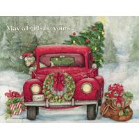 Lang Santa's Truck Boxed Christmas Cards from Blain's Farm and Fleet