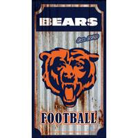 Team Sports America Chicago Bears Corrugated Metal Sign from Blain's Farm and Fleet