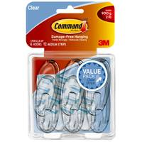 Command Medium Clear Hooks with Clear Strips Value Pack from Blain's Farm and Fleet