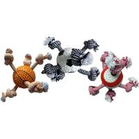 Multipet International TPR Ball with 3 Ropes Assortment from Blain's Farm and Fleet