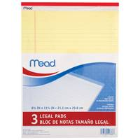 Mead 3-Pack Yellow Legal Pads from Blain's Farm and Fleet