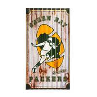 Team Sports America Green Bay Packers Corrugated Metal Wall Art from Blain's Farm and Fleet