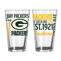 Boelter Brands Green Bay Packers Spirit Pint Glass Set from Blain's Farm and Fleet