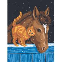 Dimensions Needlecrafts Pony & Kitten Paint by Number Kit from Blain's Farm and Fleet