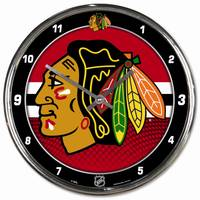 NHL Chicago Blackhawks Chrome Clock from Blain's Farm and Fleet