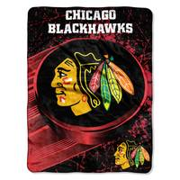 The Northwest Company Chicago Blackhawks Micro Raschel Throw Blanket from Blain's Farm and Fleet