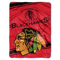 The Northwest Company Chicago Blackhawks Royal Plush Raschel Throw Blanket from Blain's Farm and Fleet
