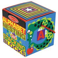 Melissa & Doug Deluxe 10-Piece Alphabet Nesting & Stacking Blocks from Blain's Farm and Fleet