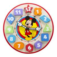 Melissa & Doug Mickey Mouse Wooden Shape Sorting Clock from Blain's Farm and Fleet