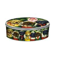 Gourmet Select Lab Puppies Large Embossed Cookie Tin from Blain's Farm and Fleet