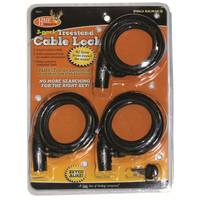 HME Products Tree Stand Cable Lock 3 Pack from Blain's Farm and Fleet